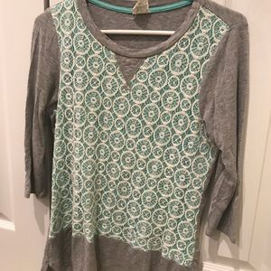 🌼2 FOR 10🌼Anthropologie Green Lace Top